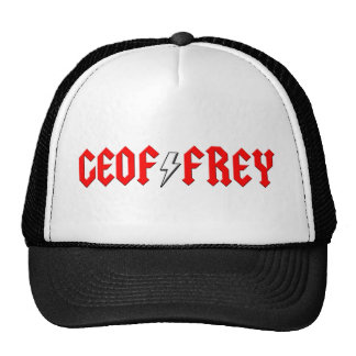 custom GEOFFREY rock and roll shirt Trucker Hat