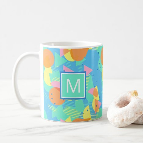 Custom Geometric Mosaic Modern Abstract Art Coffee Mug