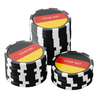 Custom German Flag Poker Chips For Germany at Zazzle
