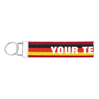 Custom German flag wrist keychains for Germany