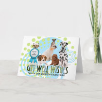 Custom Get Well Pack of Dogs Card