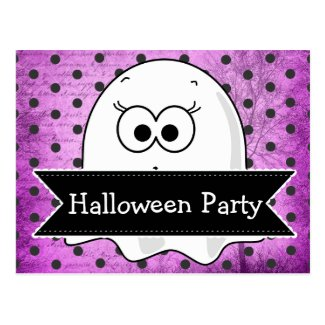 Custom Ghost Halloween Party Invitation