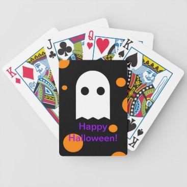 Halloween Themed Custom Ghost Halloween Playing Cards for Kids