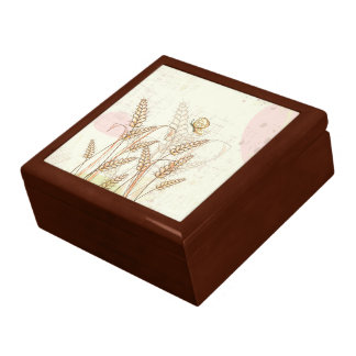 Custom Gift Box with Flowers and Butterfly Art Gift Box