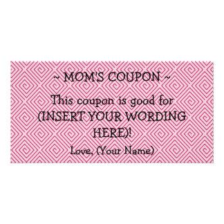 CUSTOM GIFT COUPON FOR MOM PHOTO CARD