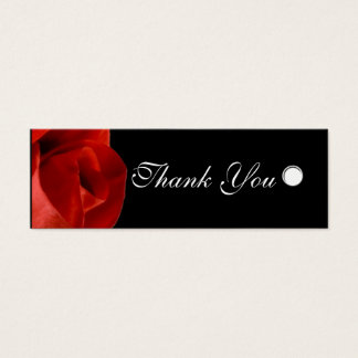 Custom Gift Tags Red Rose Personalized Text