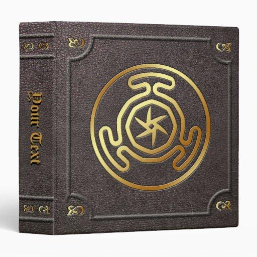 Custom Gilded Hecate's Wheel Book of Shadows 3 Ring Binder