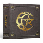 Custom Gilded Knotwork Moon Pentacle BoS Binder