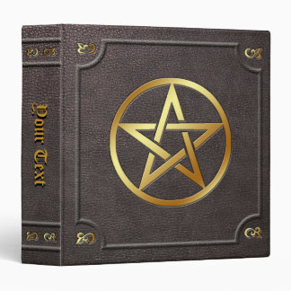 Custom Gilded Pentacle Book of Shadows 3 Ring Binder