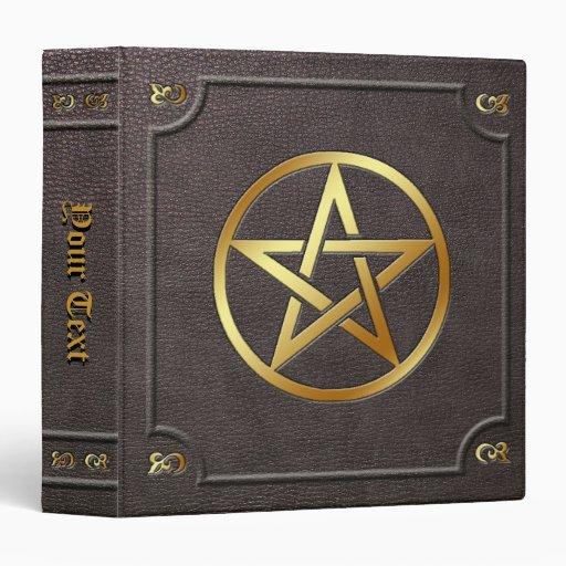 Custom Gilded Pentacle Book of Shadows 3 Ring Binders