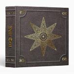 Custom Gilded Star of Ishtar Book of Shadows Vinyl Binders