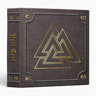 Custom Gilded Valknut Book of Shadows Binder