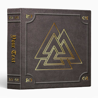 Custom Gilded Valknut Book of Shadows Binders