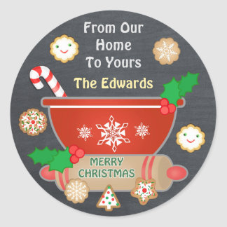Custom Gingerbread Christmas Chalkboard Stickers
