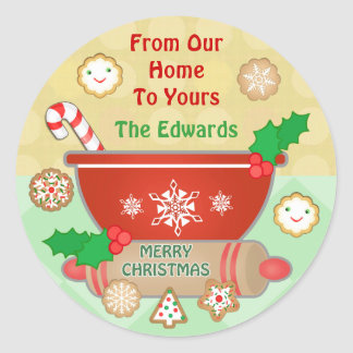 Custom Gingerbread Christmas Cookies Stickers