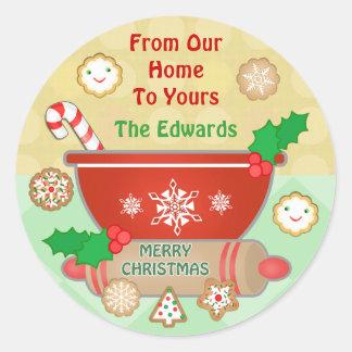Custom Gingerbread Christmas Cookies Stickers
