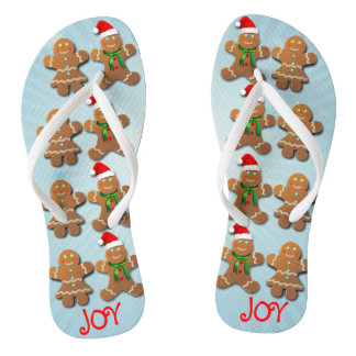 Custom Gingerbread Cookies Flip Flops