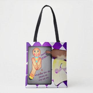 Custom GingerBread Man, Name Tote Bag