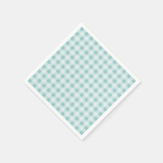 Custom gingham check plaid pattern paper napkins