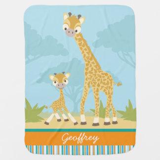 Custom Giraffe Baby Blanket
