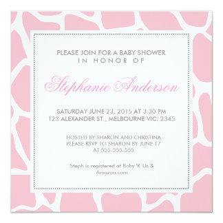 Custom giraffe baby shower invite