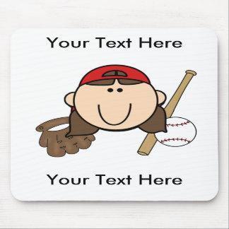 Custom Girl Baseball Mousepad - Customizable