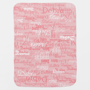 Custom Girl Color Names Personalized Pink Swaddle Blanket