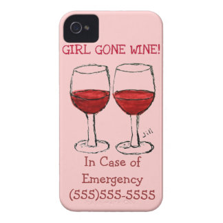 "CUSTOM ""GIRL GONE WINE IN CASE OF EMERGENCY"" CALL"