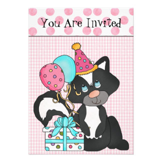 Custom Girl s Birthday Invitation