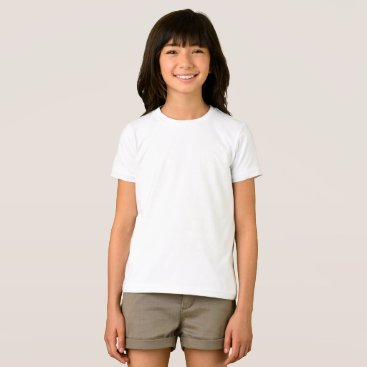 Beach Themed Custom Girls Basic American Apparel T-Shirt
