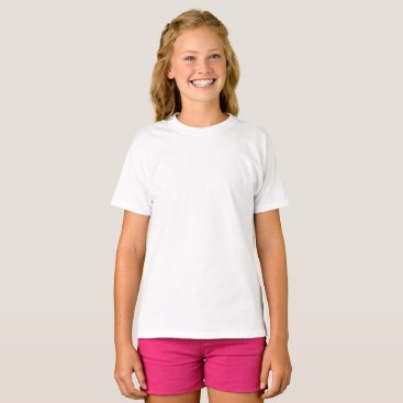 Beach Themed Custom Girls Basic Hanes T-Shirt