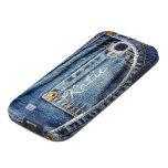 Custom girls name blue denim jeans samsung s4 case galaxy s4 case