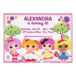"Custom Girls Ragdoll Birthday Party 5"" X 7"" Invitation Card"