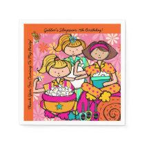 Custom Girls Slumber Party Birthday Paper Napkins