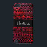 "Custom Girly Aztec Red Galaxy 5G iPod Touch Case<br><div class=""desc"">Girly-Girl-Graphics at Zazzle: Customizable Modern Elegant Girly Aztec Stylish Geometric Pattern Black and Red Girly Trendy Nebula Galaxy Case-Mate Barely There 5th Generation Apple iPod Touch Case #girlygirlgraphics #zazzle Copyright (c) 2014 girly-girl-graphics</div>"