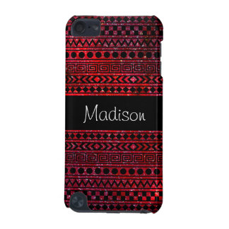 Custom Girly Aztec Red Galaxy 5G iPod Touch Case