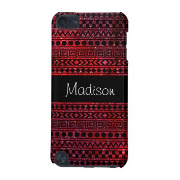 Aztec Themed Custom Girly Aztec Red Galaxy 5G iPod Touch Case
