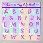 Custom Girly Pastel Alphabet Poster