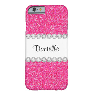 Custom Girly Pink Glitter Sparkles iPhone 6 Case