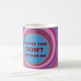 Custom girly pretty swirl circles cute clock art 11 oz magic heat Color-Changing coffee mug