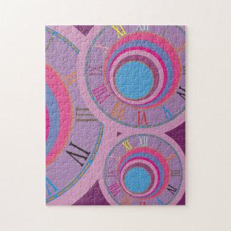 Custom girly pretty swirl circles tornado cute art puzzle