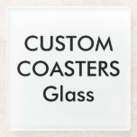 """Custom Glass Coasters<br><div class=""""desc"""">Custom 7.2"""" x 7.2"""" SQUARE 100% GLASS COASTERS - for hot or cold drinks, dishwasher safe, 3M™ Bumpon™ rubber feet. Can also be used as a trivet for small pots and pans. Personalized birthday, Christmas, Mother's Day, Father's Day celebrations, gifts for her (woman, women, wife, girlfriend, mother, mum, mom, daughter)...</div>"""