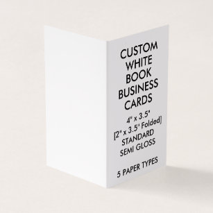 Glossy business cards templates zazzle custom glossy book folded business cards 2 x colourmoves