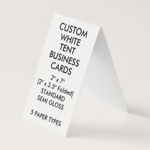 Vertical standard business cards templates zazzle custom glossy tent folded business cards 2 x reheart Images