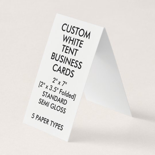 Custom glossy tent folded business cards 2 x 35 zazzle custom glossy tent folded business cards 2 x colourmoves