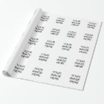 "Custom Glossy Wrapping Paper<br><div class=""desc"">Create your own custom glossy wrapping paper</div>"