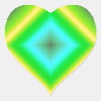Custom Glowing Abstract Design Heart Sticker