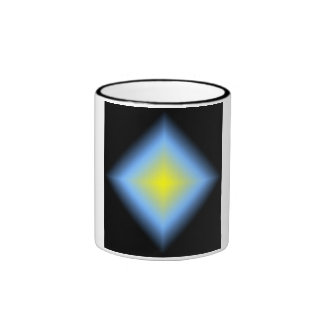 Custom Glowing Abstract Design Ringer Mug