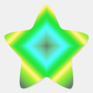 Custom Glowing Abstract Design Star Sticker