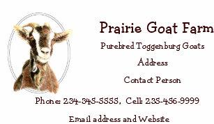 Farm animal business cards zazzle custom goat farm animal business card colourmoves